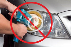 Never polish your car headlights