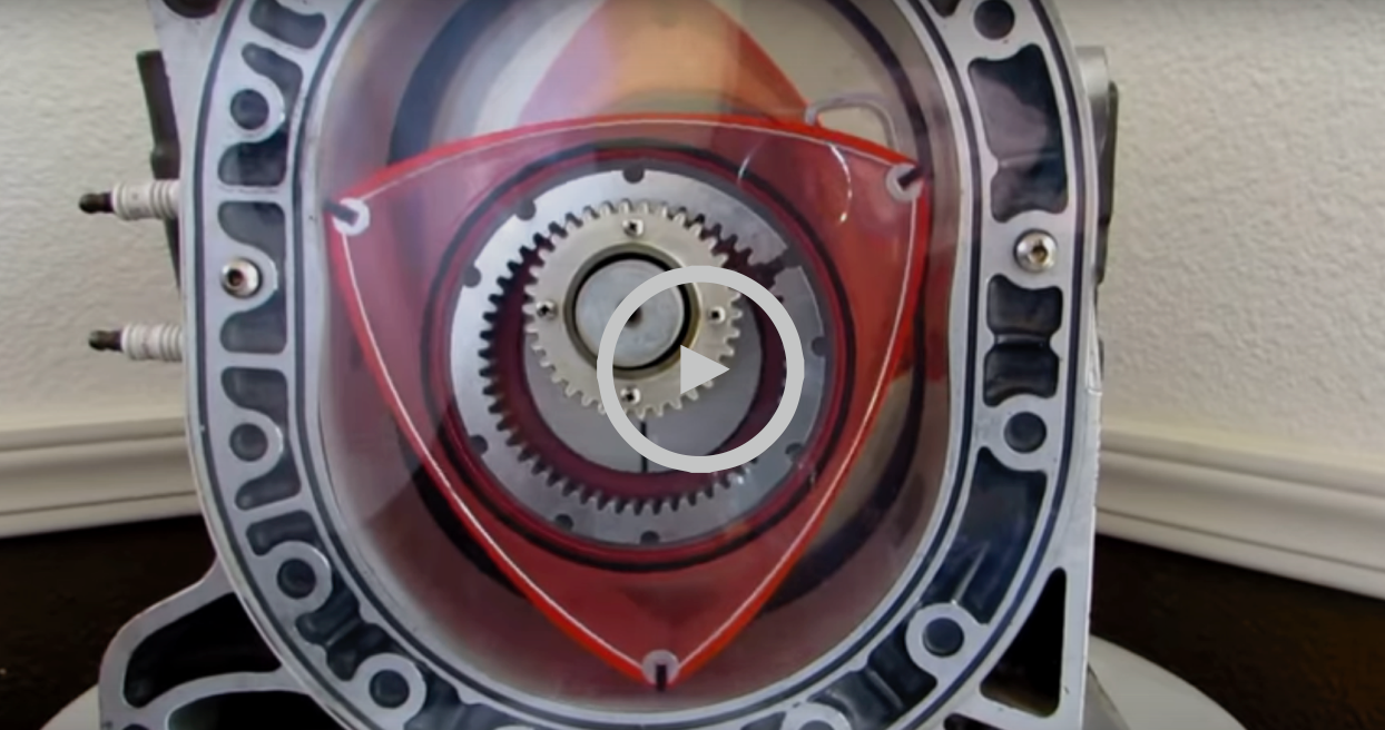 How do rotary engines work? How does a Wankel engine work?
