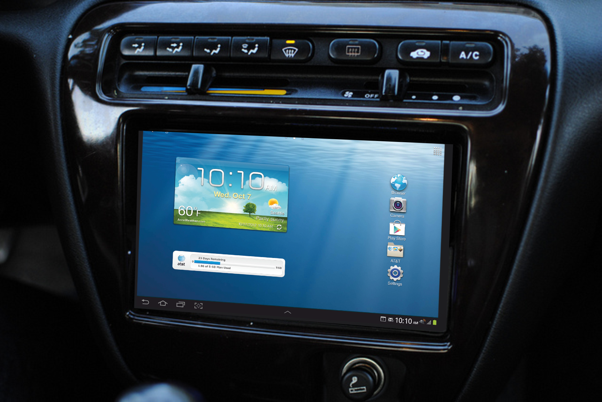 Who needs a car head unit when you have a tablet or mobile phone?