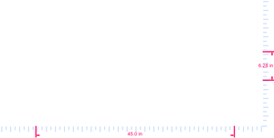 Text N&A AUTO DETAILING Vinyl custom lettering decal/6.28 x 45.0 in/  White/