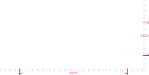 Text Dragons Vinyl custom lettering decal/0.62 x 2.02 in/  White/