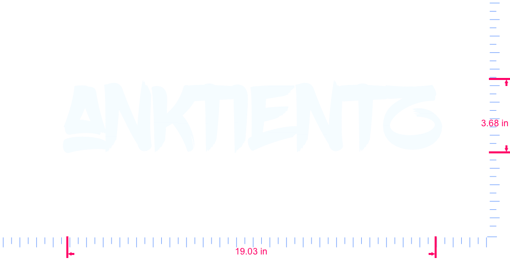 Text anktientz Vinyl custom lettering decal/3.68 x 19.03 in/ White /