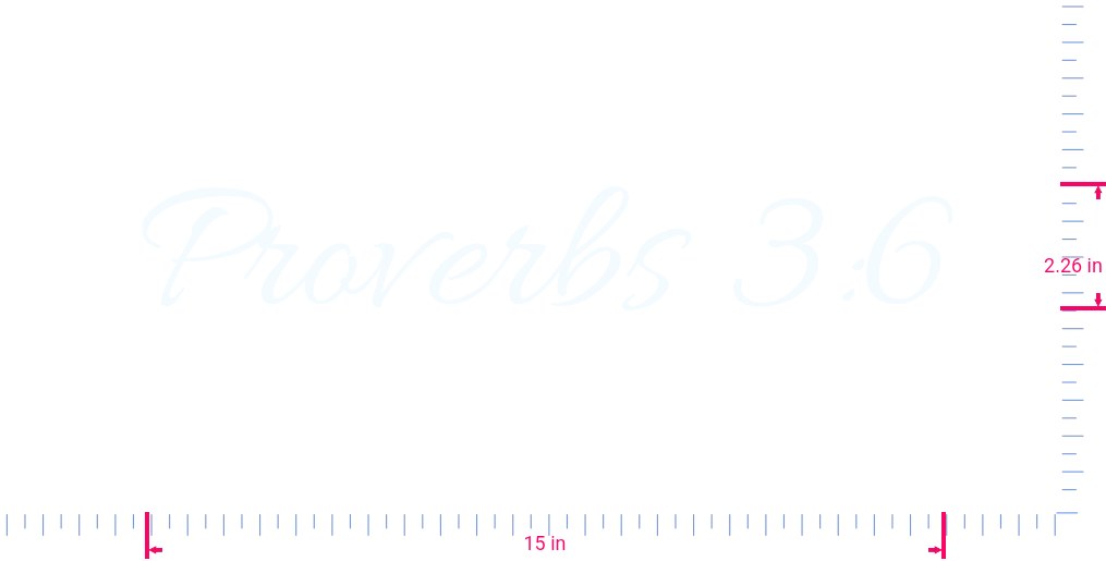 Text Proverbs 3:6 Vinyl custom lettering decal/2.26 x 15 in/ White /