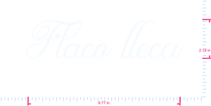 Text Flaco lleca Vinyl custom lettering decal/2.19 x 8.77 in/ White /