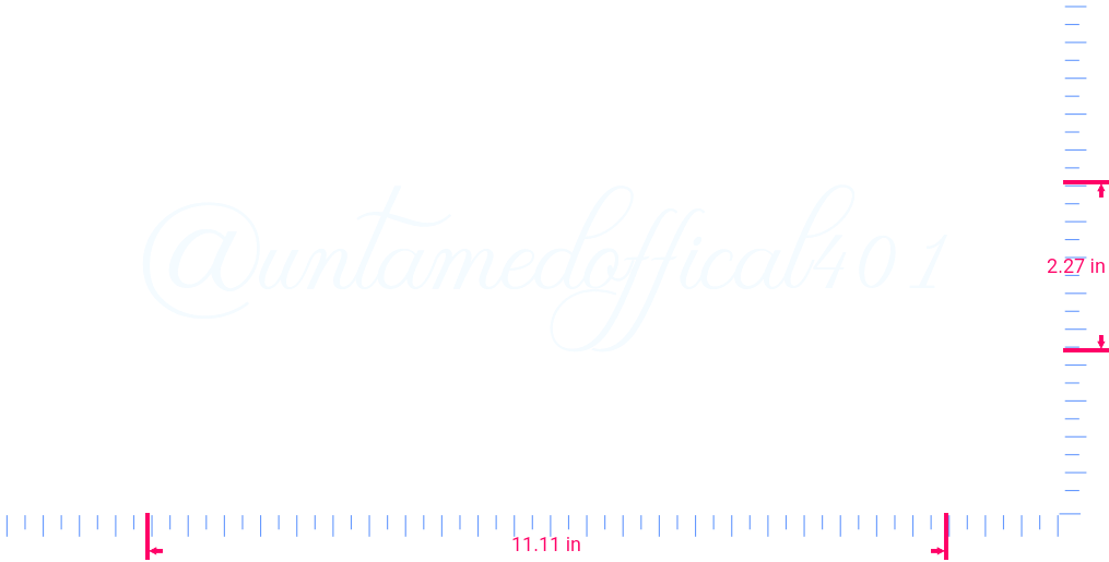 Text @untamedoffical401 Vinyl custom lettering decal/2.27 x 11.11 in/ White /
