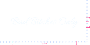 Text Bad Bitches Only Vinyl custom lettering decal/2 x 12.68 in/ White /