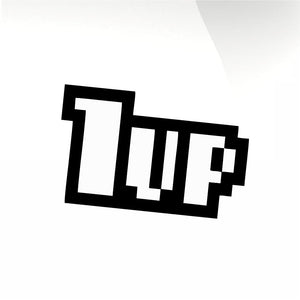 1up Car decal sticker - stickyarteu