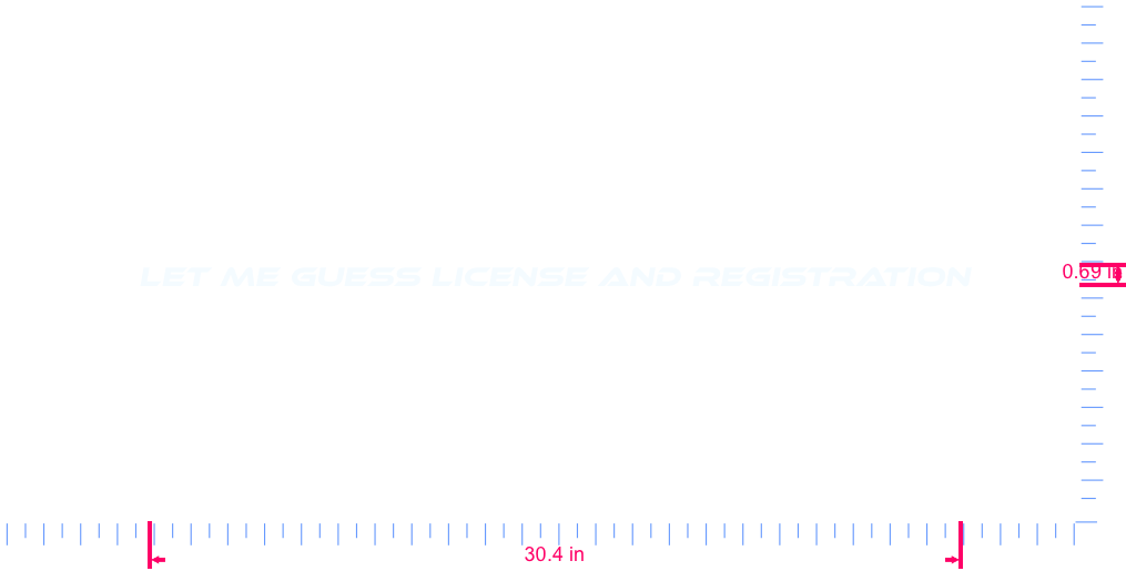 Text Let me guess license and registration Vinyl custom lettering decal/0.69 x 30.4 in/ White /
