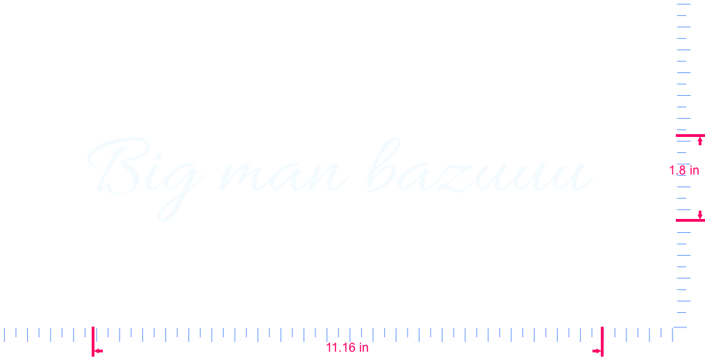 Text Big man bazuuu  Vinyl custom lettering decall/1.8 x 11.16 in/ White /