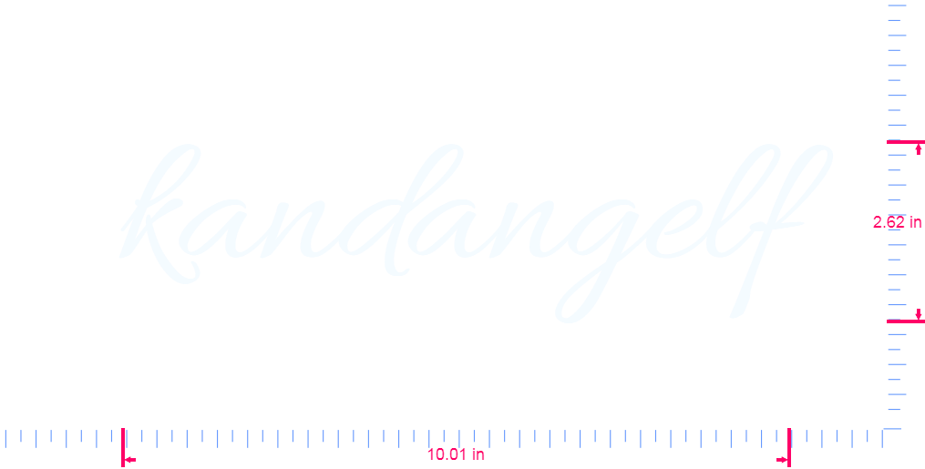 Text kandangelf Vinyl custom lettering decal/2.62 x 10.01 in/ White /