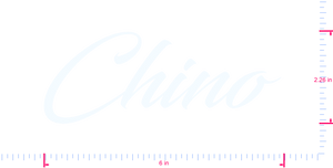 Text Chino  Vinyl custom lettering decal/2.26 x 6 in/ White /