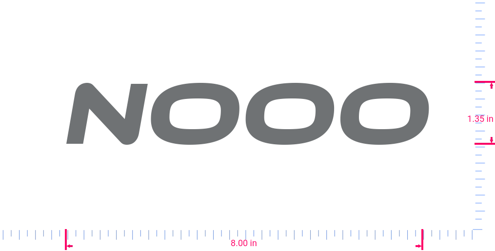 Text Nooo Vinyl custom lettering decal/1.35 x 8.00 in/ Silver Grey /