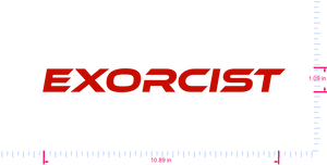 Text Exorcist Vinyl custom lettering decal/1.09 x 10.89 in/ Red /