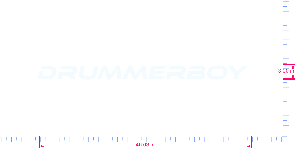 Text DRUMMERBOY  Vinyl custom lettering decal/3.00 x 46.63 in/ White /