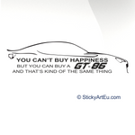 Toyota GT 86 Car decal sticker - stickyarteu