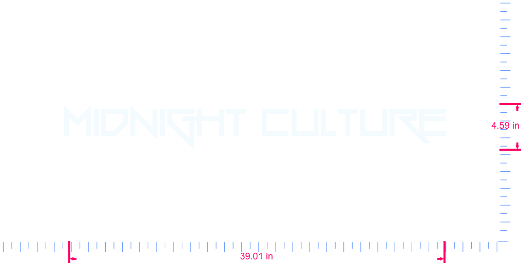 Text MIDNIGHT CULTURE Vinyl custom lettering decal/4.59 x 39.01 in/ White /