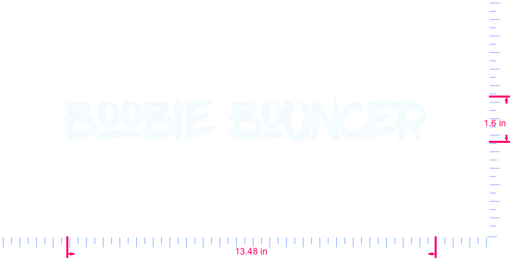 Text Boobie bouncer  Vinyl custom lettering decal/1.6 x 13.48 in/ White /