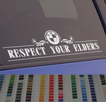 BMW Respect Your Elders Euro Style 2017 Design window sticker decal