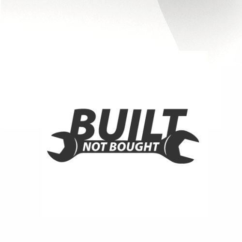 Built not bought Car decal sticker - stickyarteu