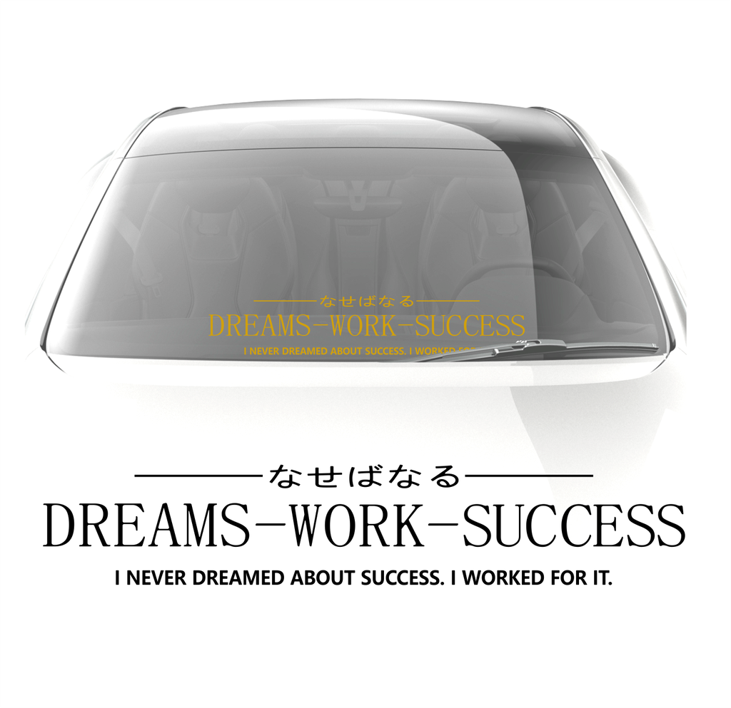 Dreams-work-success Decal