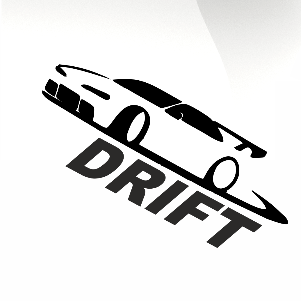 Drift car decal sticker stickyarteu