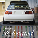 Elevated Violent windshield car sticker decal