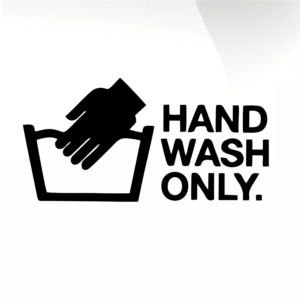 Hand wash only Car decal sticker - stickyarteu