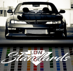 Low Standards stance decal sticker - stickyarteu