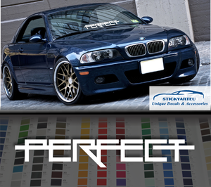 Perfect Fitment Violent windshield car sticker decal