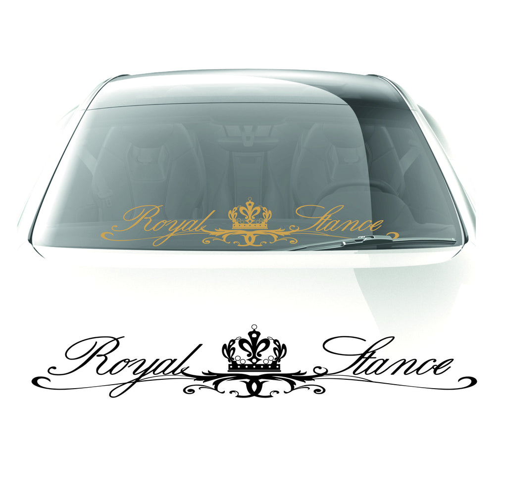 Royal stance Sticker windshield decal - stickyarteu