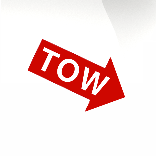 Tow Car decal sticker - stickyarteu