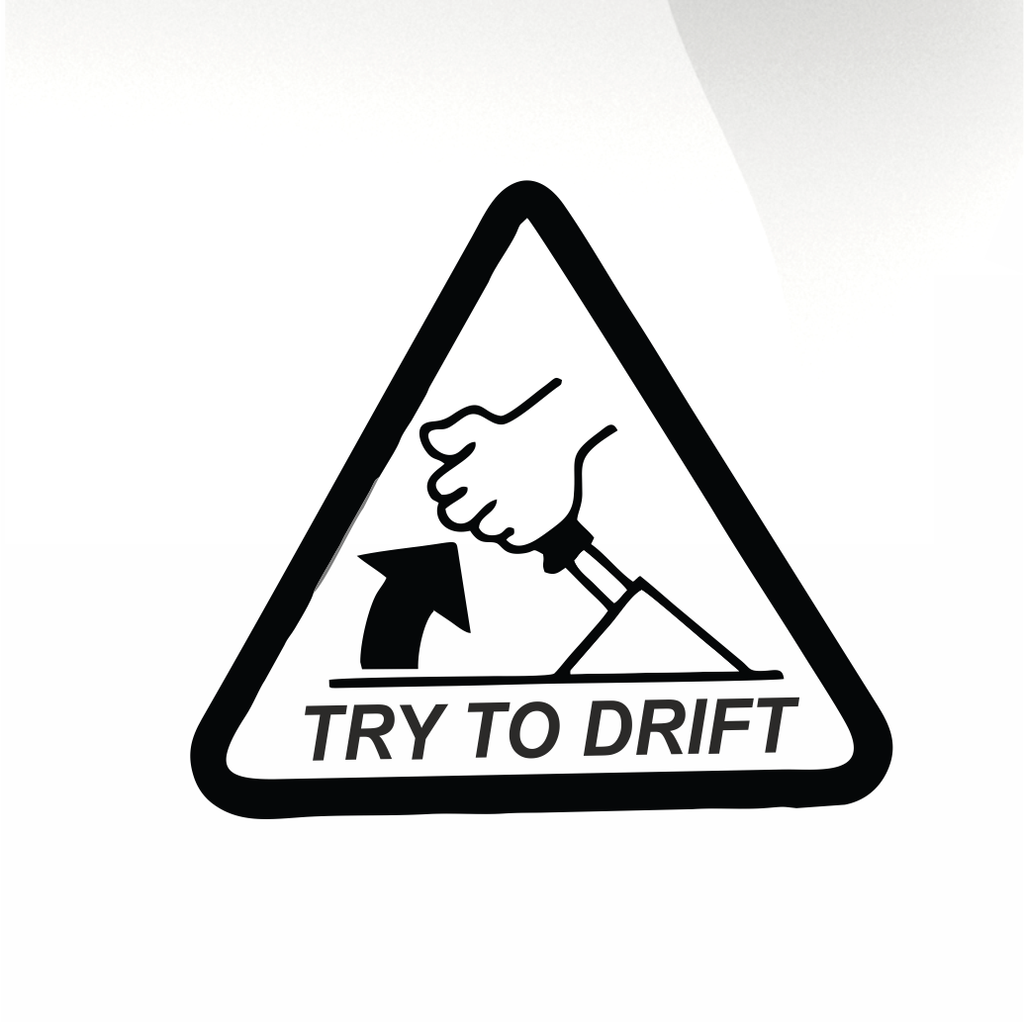 Try to drift Car decal sticker - stickyarteu