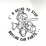 I'm going to stop buying car parts decal - stickyarteu