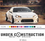 Under Construction sticker decal - stickyarteu
