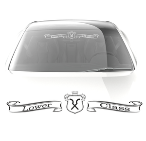 Lower Class car decal - stickyarteu