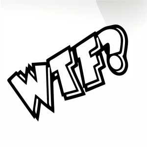 WTF? Car decal sticker - stickyarteu