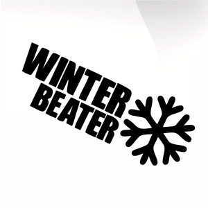 Winter Beater Car decal sticker - stickyarteu