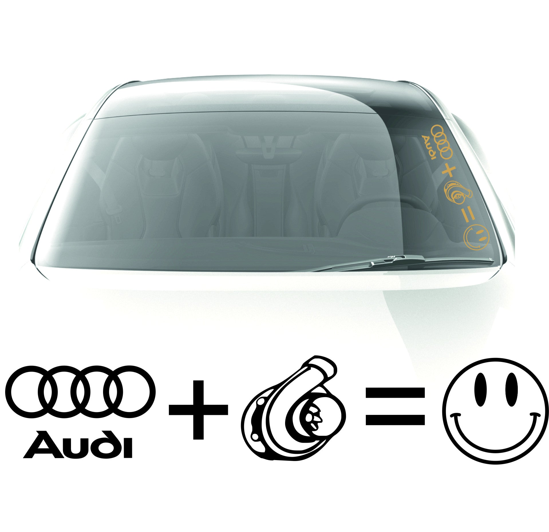 Audi + Turbo sticker - stickyarteu