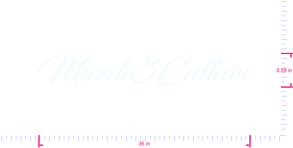 Text Mazda3Culture Vinyl custom lettering decal/5.58 x 36 in/ White /