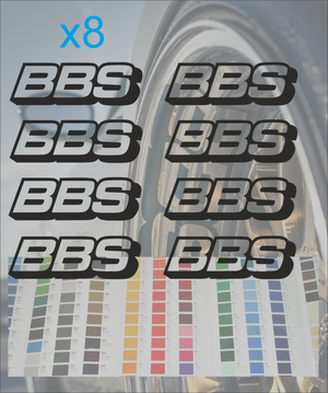 BBS Wheel rims decal logo sticker