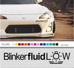 Blinker Fluid Low decal sticker - stickyarteu