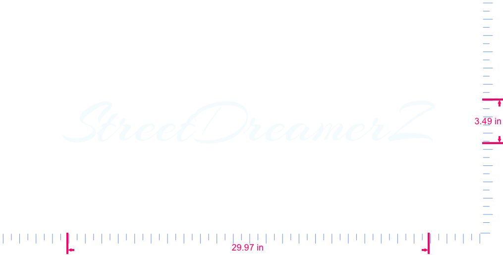 Text StreetDreamerZ Vinyl custom lettering decal/3.49 x 29.97 in/ White /