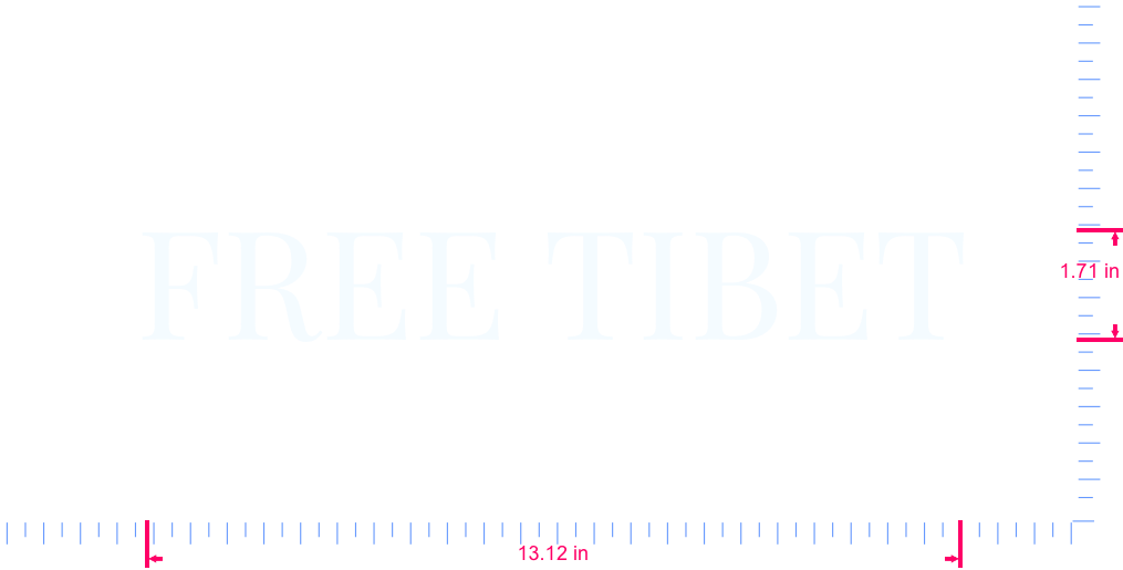 Text FREE TIBET Vinyl custom lettering decall/1.71 x 13.12 in/ White /