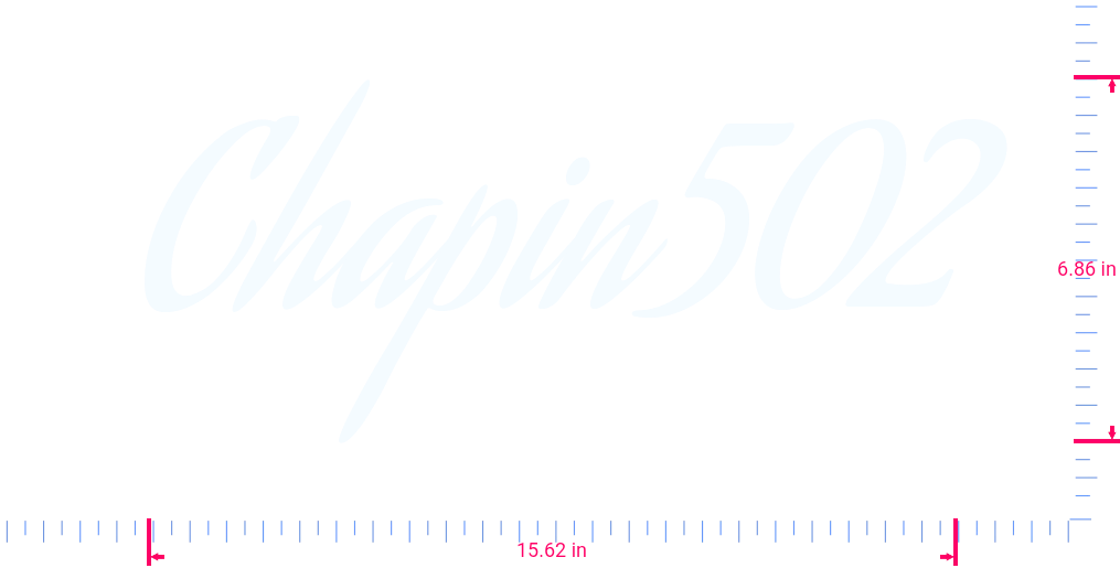 Text Chapin502 Vinyl custom lettering decall/6.86 x 15.62 in/ White /