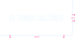 Text El Tumba Calzones  Vinyl custom lettering decall/3.19 x 28.05 in/ White /