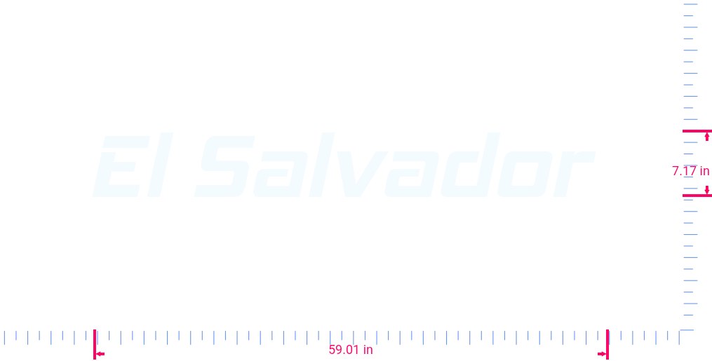 Text El Salvador  Vinyl custom lettering decall/7.17 x 59.01 in/ White /