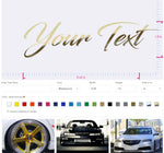Custom Vinyl Lettering with preview in real size