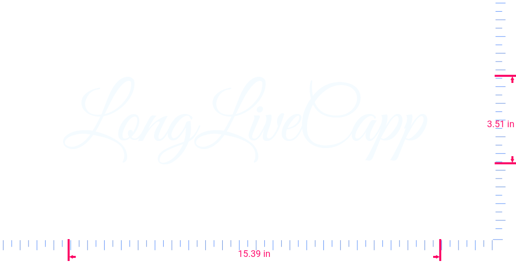 Text LongLiveCapp  Vinyl custom lettering decall/3.51 x 15.39 in/ White /