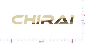 Text Chirai Vinyl custom lettering decal/8 x 55.50 in/ Gold Chrome /