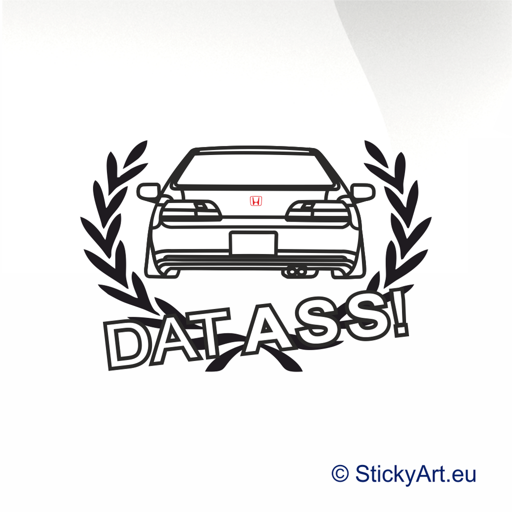 Dat Ass auto sticker - stickyarteu